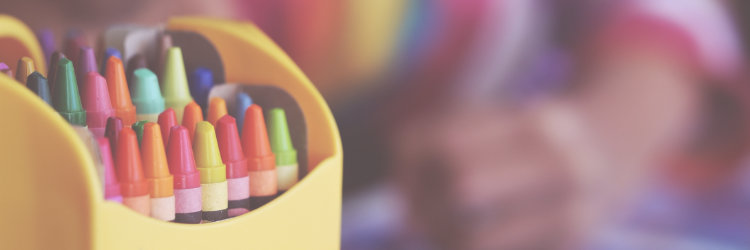 crayon banner picture